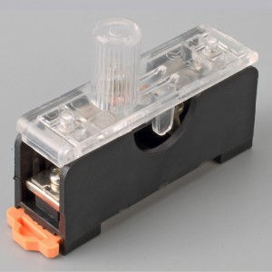 Fuse Box,PCB Mount, 10A,250VAC, 5 x 20mm,Hot Silicone PBT, Brass