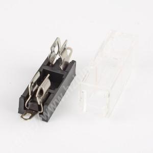 5x20mm fuse holder,250V,10A,PBT,H3-10C | HINEW