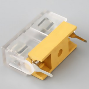 Blade fuse holder pcb mount,10A,250VAC,5X20mm | hinew-H3-10