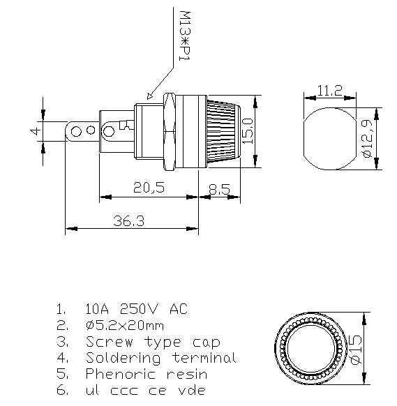 https://www.hzhinew.com/10-amp-panel-mount-fuse-holder5x20mm250-volth3-12d-hinew-product/