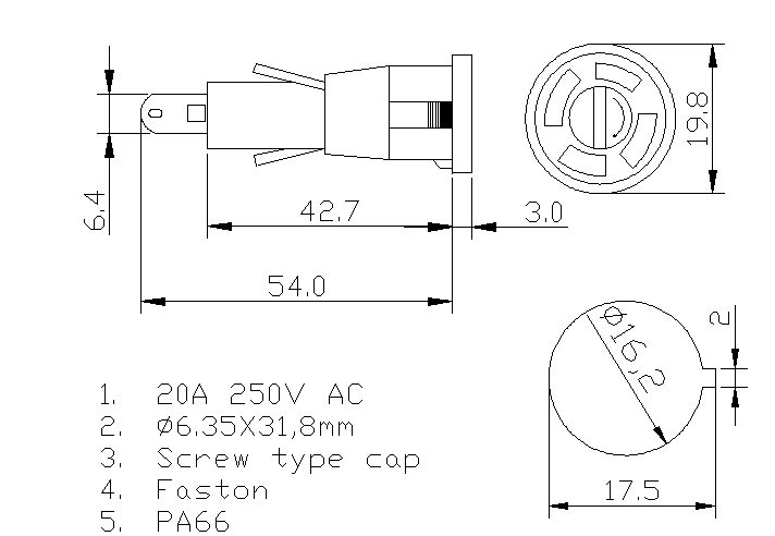https://www.hzhinew.com/20-amp-panel-mount-fuse-holder6x30mm250vh3-55a-hinew-product/