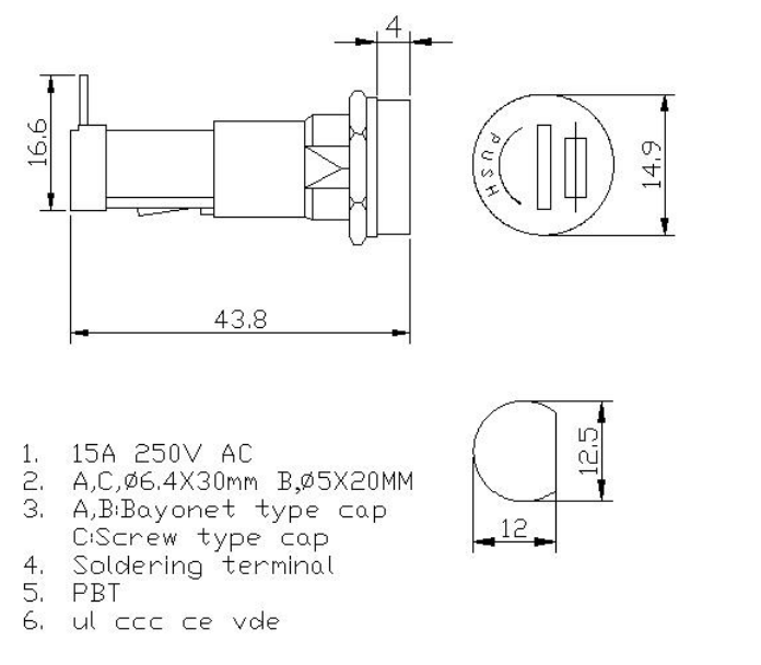 https://www.hzhinew.com/15-amp-panel-fuse-holder6x30mm250vh3-9c-hinew-product/