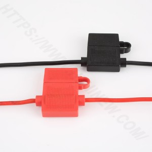 Car inline fuse holder,Medium,PVC,Black,H3-81 | HINEW