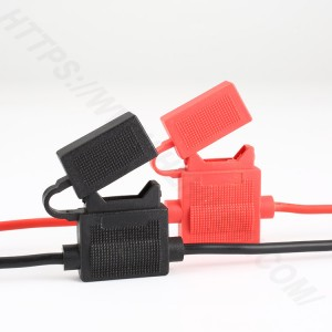 Car inline fuse holder,Medium,PVC,Black,H3-81 | HINEW
