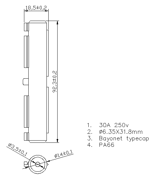 waterproof inline fuse holder H3-70B Datasheet